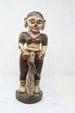 Antique Original Wooden Fine Colored Tribal Goddess Doll Angel Figurine NH6267