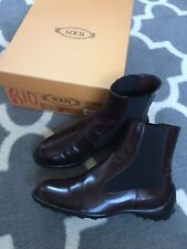 TOD's Chelsea ankle boots, brown leather, women's shoe size US 7 retail $450