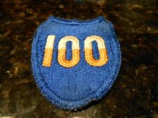 WWII U.S.100th Division Patch. WORN. Scrap Book Example.
