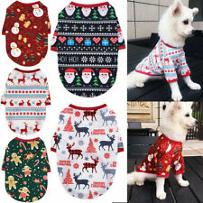 Dog Christmas Clothes Vest T-shirt Elk Snowman For Pet Puppy Cat Clothing Outfit