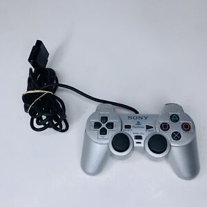 Sony PlayStation 2 PS2 Silver Controller SCPH-10010 Dualshock 2 Genuine OEM 100%