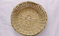 Handmade Woven Basket Bread Gift Fruit Display Round Home Kitchen Container