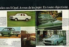 B- Publicité advertising 1968 (2 pages)  Opel Kadett Olympia Rekord Commodore