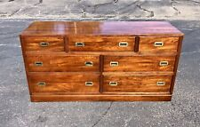 Ethan Allen Campaign Style Solid Cherry Dresser (RARE)