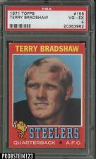1971 Topps Football #156 Terry Bradshaw Pittsburgh Steelers RC Rookie HOF PSA 4