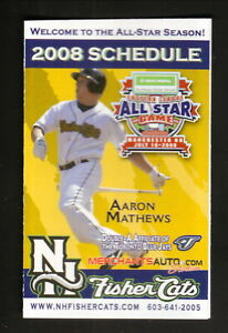 New Hampshire Fisher Cats--2008 Pocket Schedule--WGIR--Blue Jays Affiliate