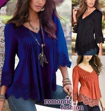 ♥Größe 34-46 Shirt Top Bluse Oberteil Blouson Pulli 3/4 Arm+NEU+SOFORT♥