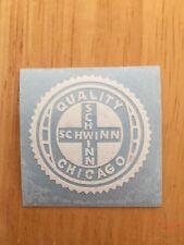 Early Vintage Schwinn Stingray  Seat Tube White Bicycle Peel & Apply Decal