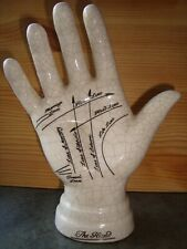 Vintage ceramic palmistry hand