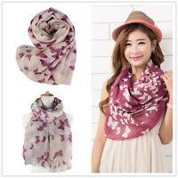 Butterfly Lady Women Fashion Stylish Soft Silk Chiffon Scarf Wrap Shawl Stole J2