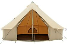 Canvas Bell Tent 3M & 4M Waterproof, Glamping & Family Camping Regatta Tent