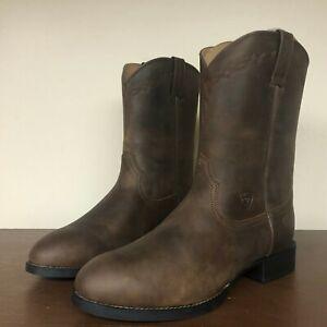 Ariat Heritage Western Roper Men's Size 12 Wide Distressed Brown 10002284