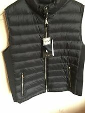 ZARA Black Lightweight Down Puffer Waistcoat Quilted Jacket Gilet L Large