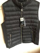 ZARA Black Lightweight Down Puffer Waistcoat Quilted Jacket Gilet Extra Large XL