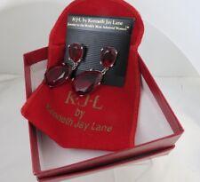 Vintage KJL - Kenneth Jay Lane Ruby Drop Earrings