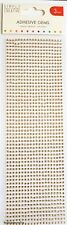 TRIMCRAFT SIMPLY CREATIVE 3MM GOLD ADHESIVE GEMSTONES - 1080 GEMS PER PACK