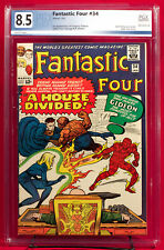 FANTASTIC FOUR #34 (Marvel 1964) PGX 8.5 VF Very Fine Plus + CGC!!!