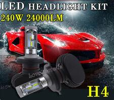 H4 9003 HB2 6K White CSP High Power LED Headlight Bulbs Kit 240W 24000LM HiLo