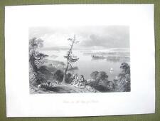 CANADA Lake Ontario Bay of Quinte - 1841 Engraving Print by BARTLETT