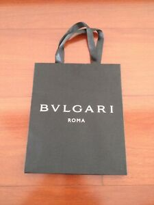 NEW BVLGARI black satin paper gift bag authentic 8 x 7