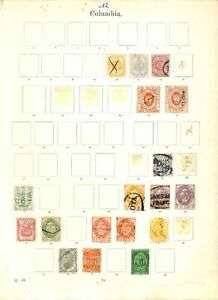 [OP6523] Colombia lot of stamps on 12 pages