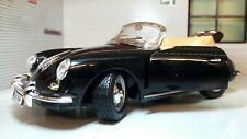 G LGB 1:24 Echelle Noir Porsche 356 Cabriolet 1961 détaillé Voiture Miniature