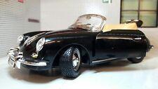 G LGB 1:24 Escala Negro Porsche 356 Cabrio 1961 DETALLADO fundido Modelismo