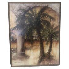 Sherry Strickland Gateway Of Palms Wall Art Wood Framed Canvas 24x30