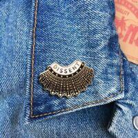 Dissent Collar Pin, Enamel Lapel Pin, RBG, Ruth Bader Ginsburg, Jewelry, Art