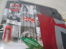 New Flash Home LONDON PEVA Vinyl Shower Curtain 70X72 ~  Red, Black, Grey, White