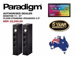 PARADIGM: MONITOR 11 V7. Floor Standing Speakers (PAIR). Brand New. RRP: $2,699