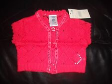 Baby Girls Pumpkin Patch short sleeve red lacey knit cardigan   Size 0000 for NB