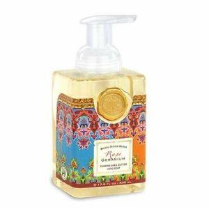*MICHEL DESIGN WORKS Foaming SHEA BUTTER Liquid HAND SOAP 17.8 OZ ~ROSE GERANIUM