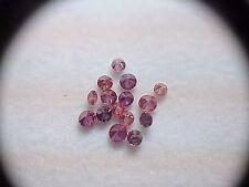 Diamonds Round 15 Stones 0.51 Carat Fancy Pink Purple Natural Color Enhanced