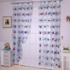 New Cartoon Curtain Baby Living Room Finished Printed Car Pattern Tulle Curtain