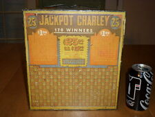Vintage Jackpot Charley 25 Cent Unused Gambling Punch Boards, 1940' - 50's yrs.