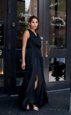 Banana Republic Goddess Maxi Vee Dress Sleeveless Black Size 6 Lined