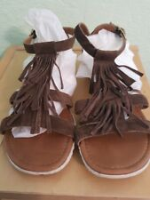 A. Giannetti Brown Itailian Leather Sandal size 6.5
