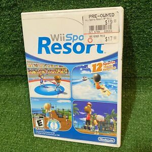 Wii Sports Resort Nintendo Wii Game Disc and Case (USA/CAN)