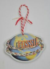 Fossil Shop Around The World Metal 2 Sided World Globe Ornament Cars Embossed