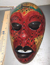 Wood Tribal Style Africa Mask, hand carved, 9.5 x 6, fantastic reproduction