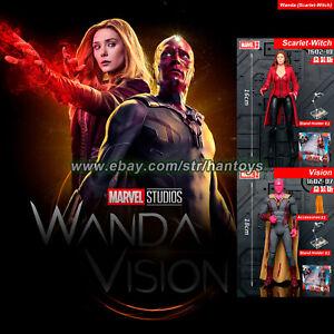 "2PCS Set Marvel Avengers Wanda Vision & Scarlet Witch 7"" Action Figure Toys New"