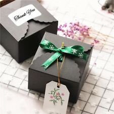 50x black cake box wedding party favours Christmas gift Wrapping cookie candy