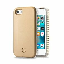 iPhone 6 S Plus LED Light Up Selfie Power Bank External Battery Case Cover Gold