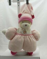Nounours doudou velours ours lutin rose semi plat  36 cm environ