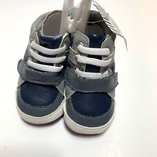 Rising Star Baby Boy Sz 1 3-6 Months High Top Sneakers Crib Shoes Blue 3 6 M NEW