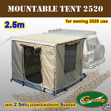 G CAMP MOUNTABLE 2.5M AWNING ROOF TOP TENT CAMPER TRAILER 4WD 4X4 CAR RACK YKK
