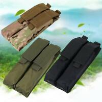 Tactical Double Magazine P90 Pouch Holder Molle AEG Airsoft Paintball Tan M U9N2
