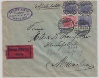 25409) BONN BAHNHOF 1920 EILBOTEN Expreß Brief nach München