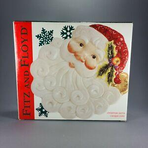 Fitz And Floyd Christmas Santa Plate NIB